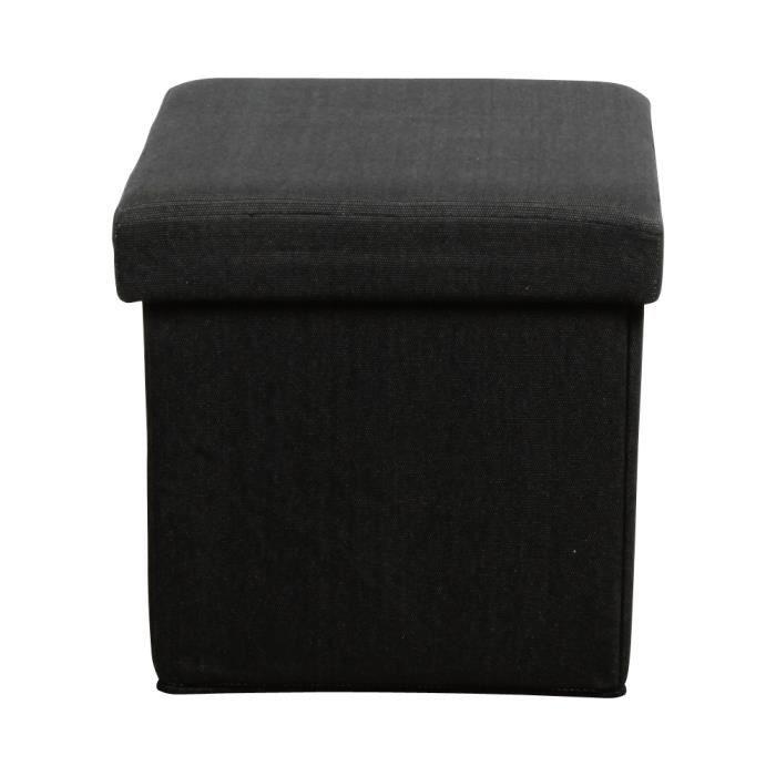 pouf pliant coffre gris anthracite achat vente pouf poire tissu 100 polyester. Black Bedroom Furniture Sets. Home Design Ideas