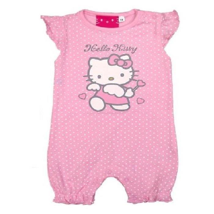 combishort b b hello kitty pour filles 30 mois tenue t combinaison courte en coton rose 92 cm. Black Bedroom Furniture Sets. Home Design Ideas