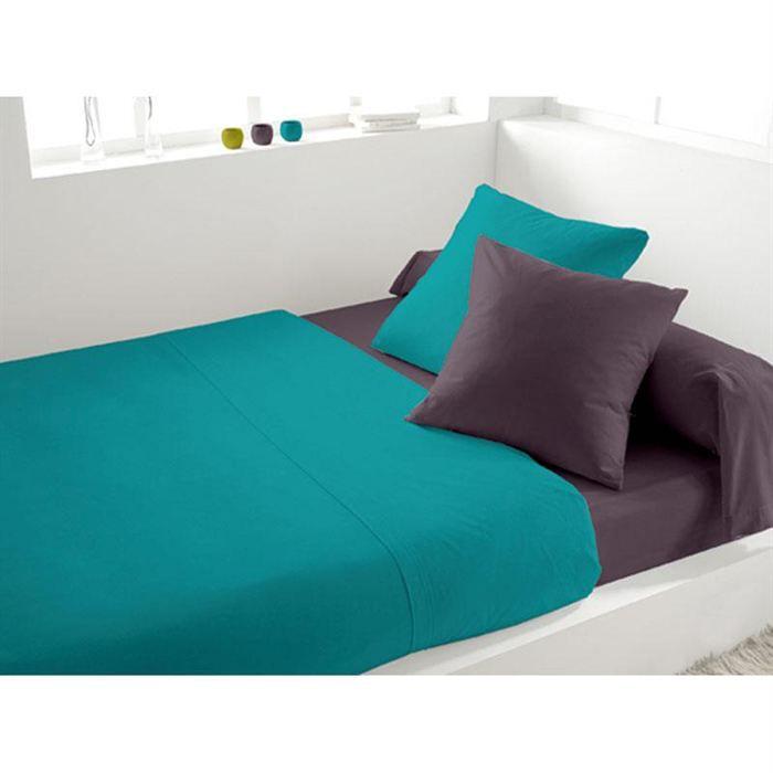 parure de lit 4 pi ces soleil d 39 ocre bicouleur achat vente parure de lit cdiscount. Black Bedroom Furniture Sets. Home Design Ideas