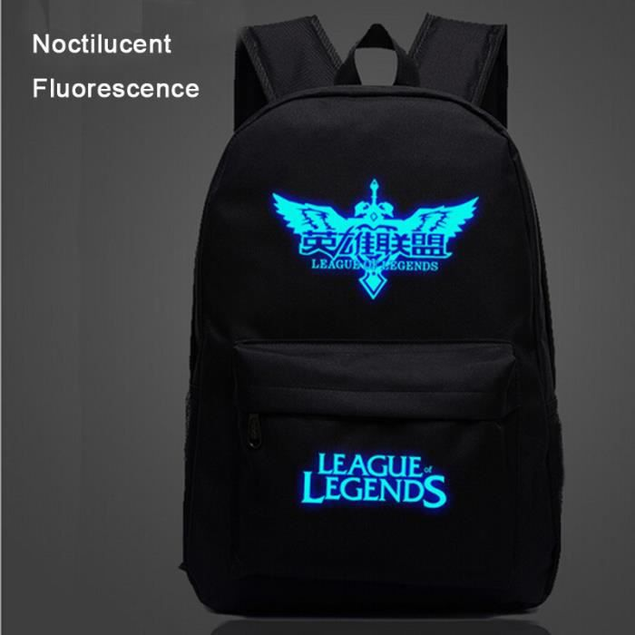 lol league of legends sac dos noctilucent fluorescence cartable cadeau no l anniversaire pour. Black Bedroom Furniture Sets. Home Design Ideas