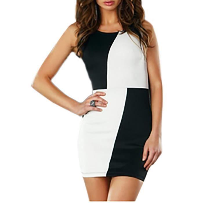 Robe bicolore noir et blanche