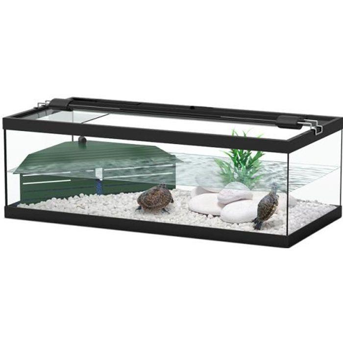 Aquarium tortum noir pour tortue avec filtre achat vente vivarium terrarium aquarium - Aquarium complet pour tortue d eau ...