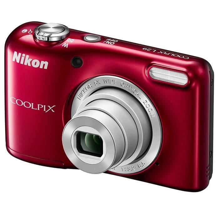 APPAREIL PHOTO COMPACT NIKON L29 Compact Rouge - 16 MP Zoom 5x