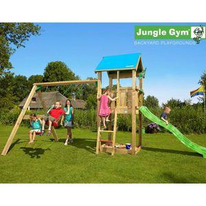 TRIGANO Tour de Jeux Jungle Gym Castle 2 Swing X'Tra