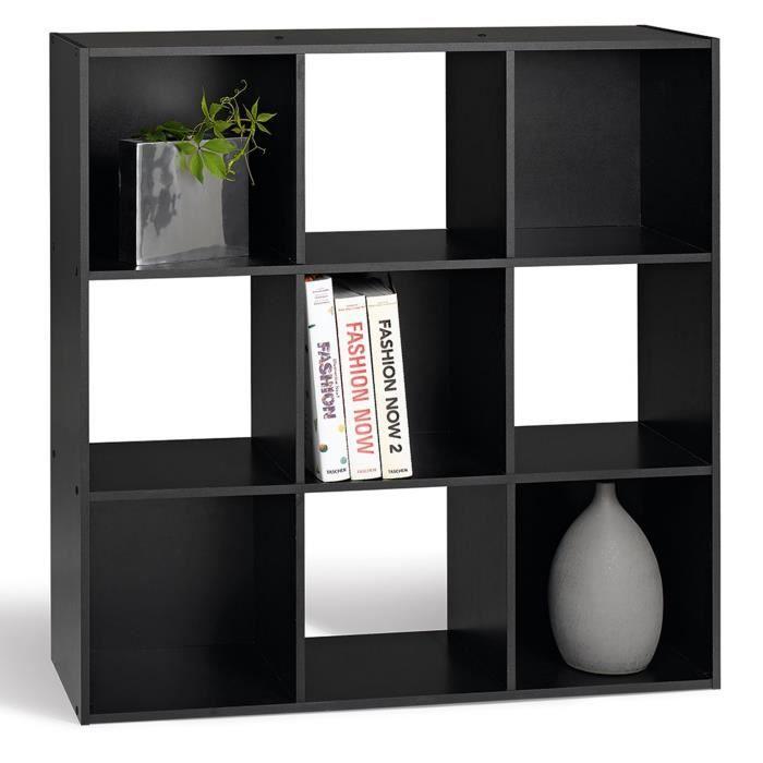 compo cube 9 cases noir achat vente petit meuble rangement compo cube 9 cases noir panneau. Black Bedroom Furniture Sets. Home Design Ideas