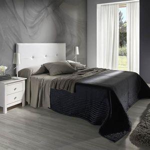 Tete de lit simili blanc achat vente tete de lit simili blanc pas cher - Tete de lit 160 cm pas cher ...