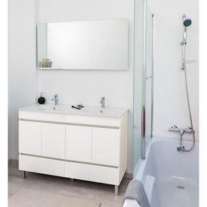 meuble salle de bain avec vasque et miroir 120cm achat vente meuble salle de bain avec. Black Bedroom Furniture Sets. Home Design Ideas