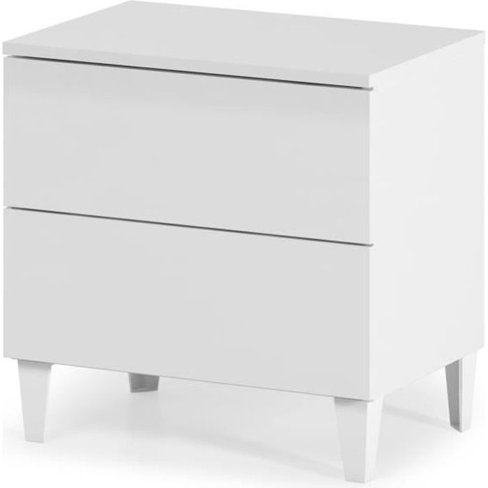 commode blanche 50 cm