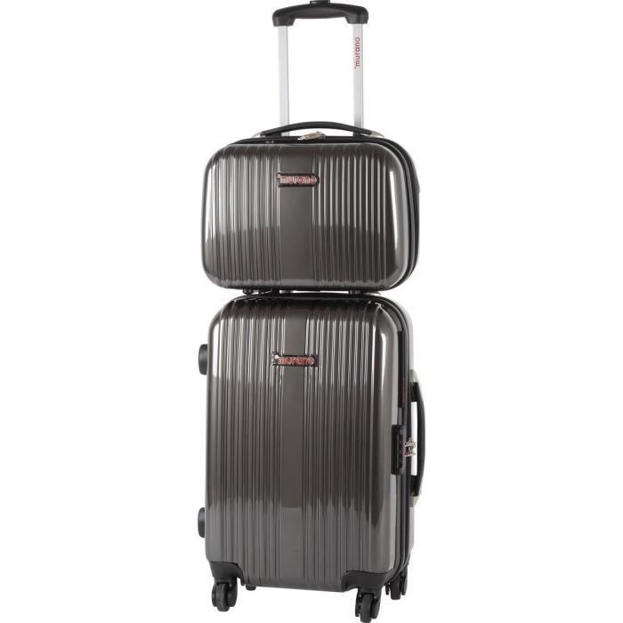 murano valise cabine 51 cm vanity 35 cm abs polycarbonate blc 4 roues gris fonc gris fonc. Black Bedroom Furniture Sets. Home Design Ideas