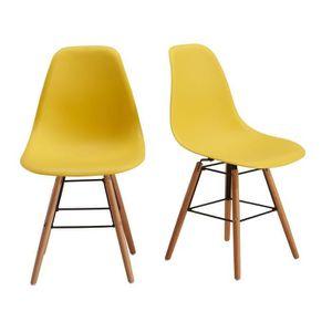 CHAISE STELLA Lot de 2 chaises design de salle à mange...