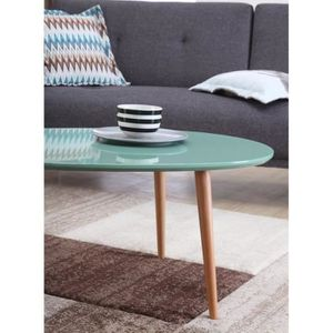 Stone table basse scandinave laquee achat vente stone for Table basse scandinave vert d eau