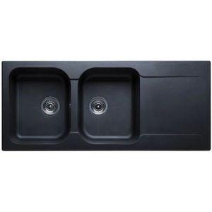 evier 2 bacs noir achat vente evier 2 bacs noir pas cher les soldes sur cdiscount cdiscount. Black Bedroom Furniture Sets. Home Design Ideas