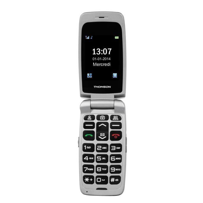 thomson serea 62 noir t l phone senior achat t l phone portable pas cher avis et meilleur. Black Bedroom Furniture Sets. Home Design Ideas