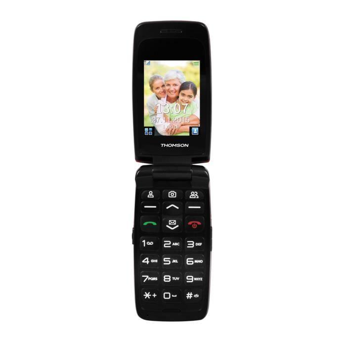 thomson serea 62 rouge t l phone pour senior achat t l phone portable pas cher avis et. Black Bedroom Furniture Sets. Home Design Ideas