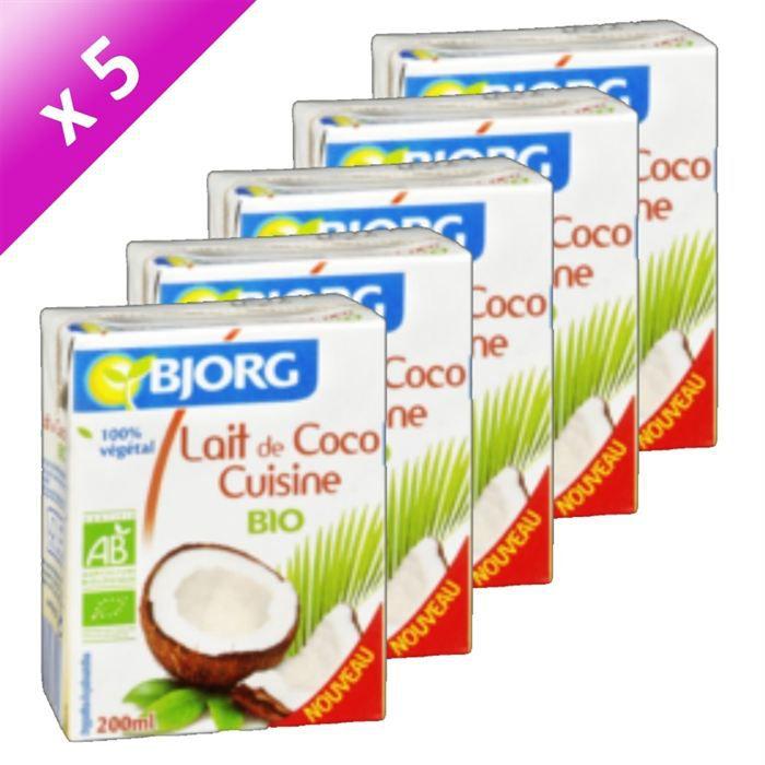 Bjorg lait de coco 200ml x5 achat vente lait concentr bjorg lait de coco 200ml x5 cdiscount - Lait de coco bjorg ...