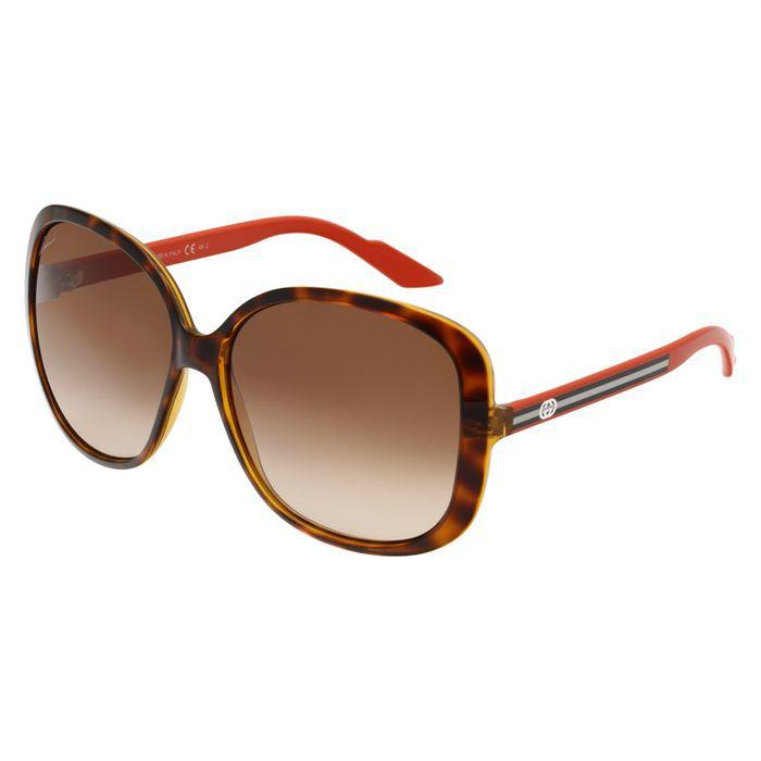 gucci lunettes de soleil femme orange noir blanc achat vente lunettes de soleil cdiscount. Black Bedroom Furniture Sets. Home Design Ideas