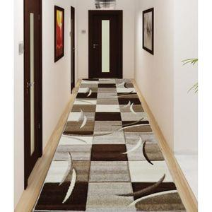 Diamond tapis de couloir 80x300 cm marron noir et blanc achat vente tapi - Tapis de couloir ikea ...