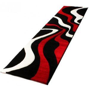 TAPIS DE COULOIR DIAMOND Vagues tapis de couloir rouge, noir et bla