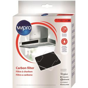 Wpro CFW020/1 Filtre de hotte ? charbon Type 20 - dim 220x180x20 mm - lavable au lave-vaisselle et réutilisable pendant 3 ans