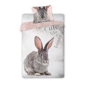 House de couette animaux 1 personne achat vente house - Housse de couette lapin ...