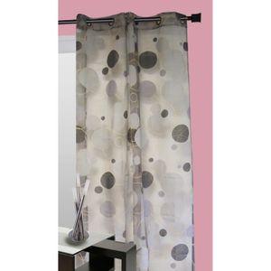 rideaux motif rond achat vente rideaux motif rond pas cher cdiscount. Black Bedroom Furniture Sets. Home Design Ideas