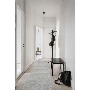 TAPIS DE COULOIR TRENDY Tapis de salon Shaggy  gris 80x300 cm