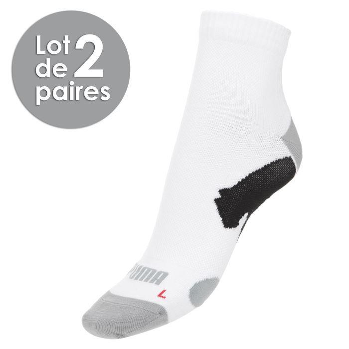 puma chaussettes multisport tige basse homme blanc et gris achat vente chaussettes cdiscount. Black Bedroom Furniture Sets. Home Design Ideas