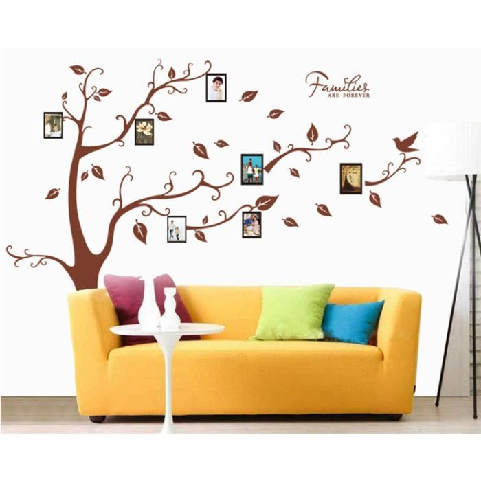 Creatif arbre cadre photo stickers muraux amovibles - Stickers muraux grand format ...