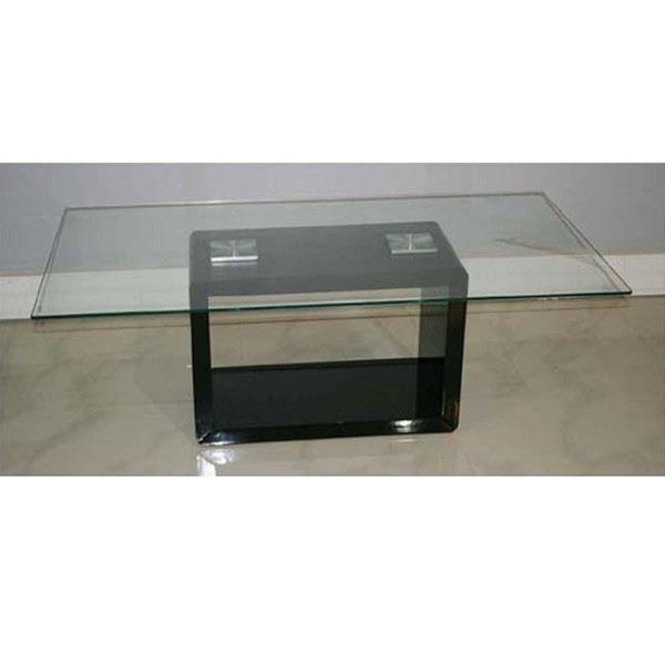 Table basse en verre noire achat vente table basse table basse en verre n - Table basse noir en verre ...