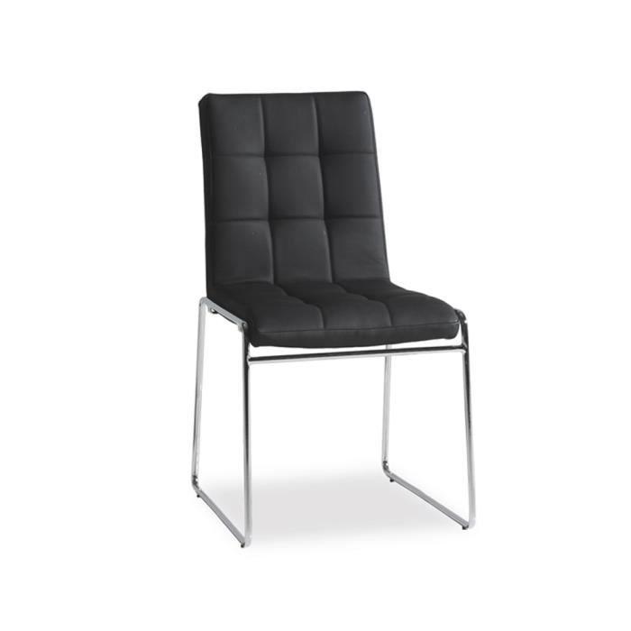 Chaise bureau noir dimensions h86 x l48 x p achat vente chaise de bu - Chaise bureau cdiscount ...