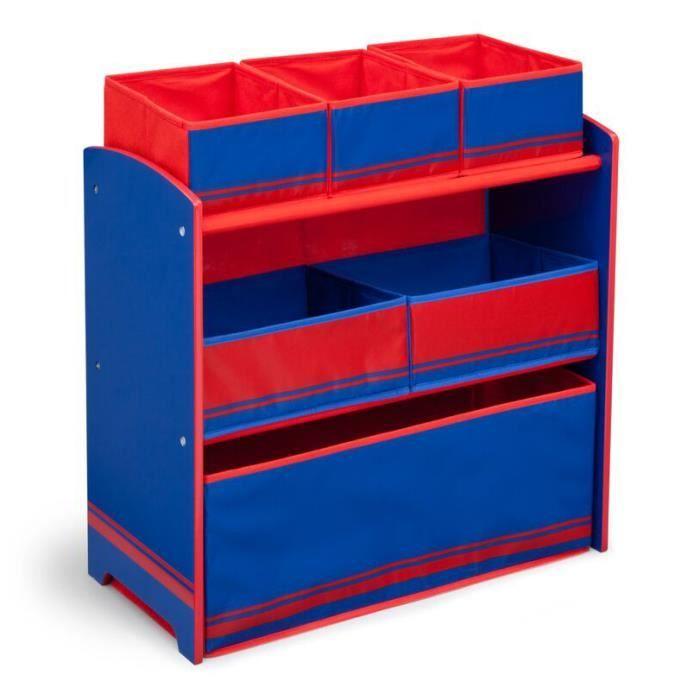 Meuble de rangement bleu rouge achat vente petit - Meuble rangement cdiscount ...