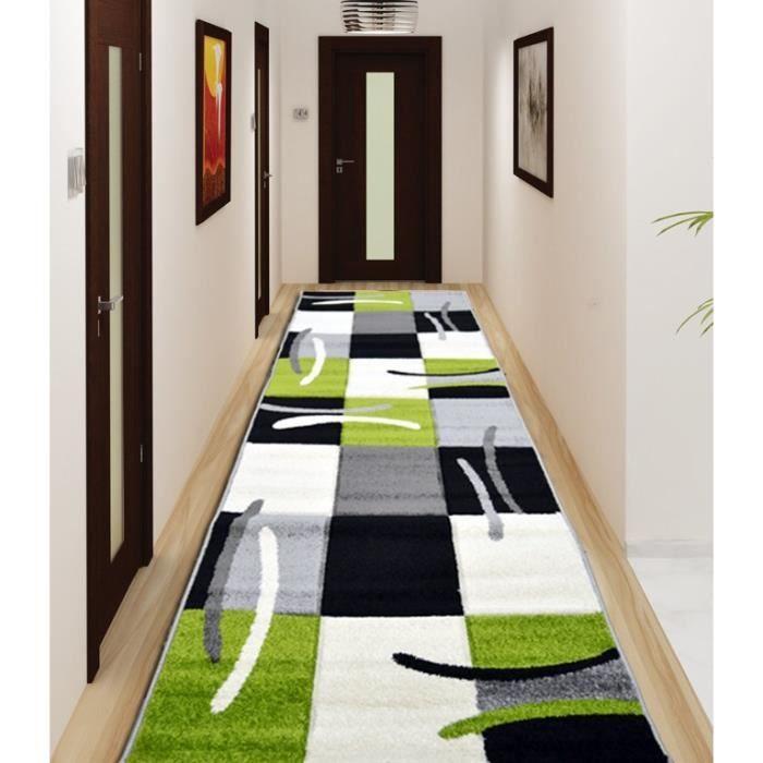 jazz tapis de couloir vert 80x300 cm achat vente tapis de couloir 100 polypropyl ne cdiscount. Black Bedroom Furniture Sets. Home Design Ideas