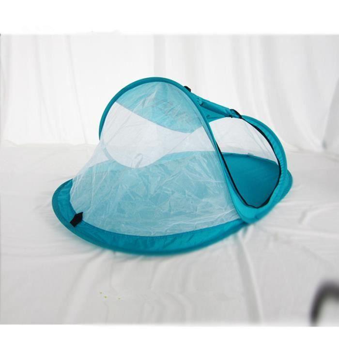 moustiquaire tent lit de b b contre insectes et moustiques pliable zipp e bleu achat vente. Black Bedroom Furniture Sets. Home Design Ideas
