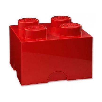 Boite de rangement lego 4 plots rouge achat vente for Maison rouge boite de nuit
