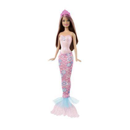 Mattel poup e barbie sir ne change de couleur rose achat vente poup e cdiscount - Barbie sirene couleur ...