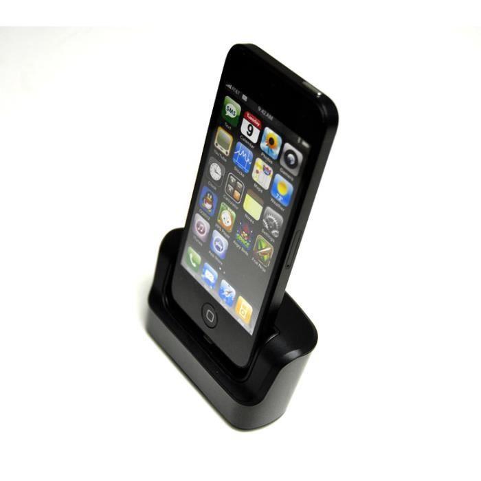 dock d 39 accueil chargeur pour apple iphone 5s 5c 5g achat chargeur t l phone pas cher avis et. Black Bedroom Furniture Sets. Home Design Ideas