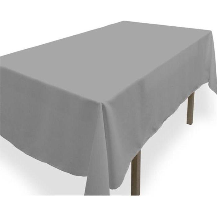 nappe antitache rectangle 140x300 cm alix grise achat. Black Bedroom Furniture Sets. Home Design Ideas
