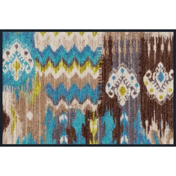 Tapis Design Mixed Ikat Blue 50 X 75 Achat Vente Tapis Cdiscount