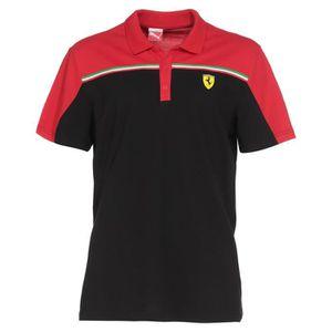 puma polo scuderio ferrari homme noir et rouge achat vente maillot polo de sport cdiscount. Black Bedroom Furniture Sets. Home Design Ideas