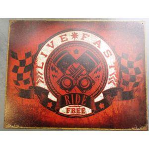 Deco plaques fer ou plaque emaillee  Plaque-publicitairelive-fast-ride-free-affiche-tol