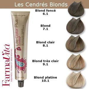 coloration coloration cheveux farmavita tons cendrs blonds - Coloration Blond Clair Cendr