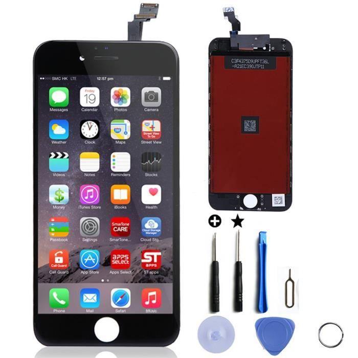 ensemble cran tactile cran lcd retina sur chassis remplacement pour iphone 6 4 7 noir. Black Bedroom Furniture Sets. Home Design Ideas