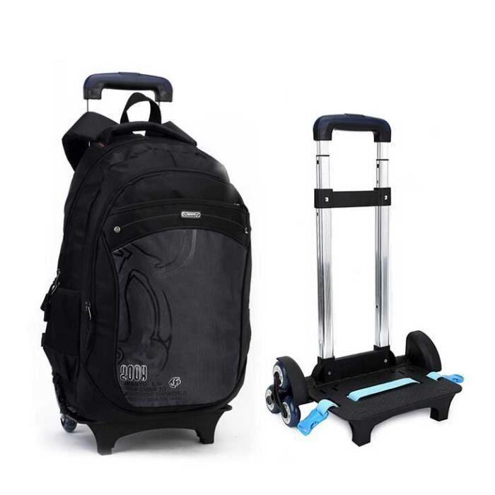 sac dos roulettes trolley scolaire cole enfant noir achat vente sac dos. Black Bedroom Furniture Sets. Home Design Ideas
