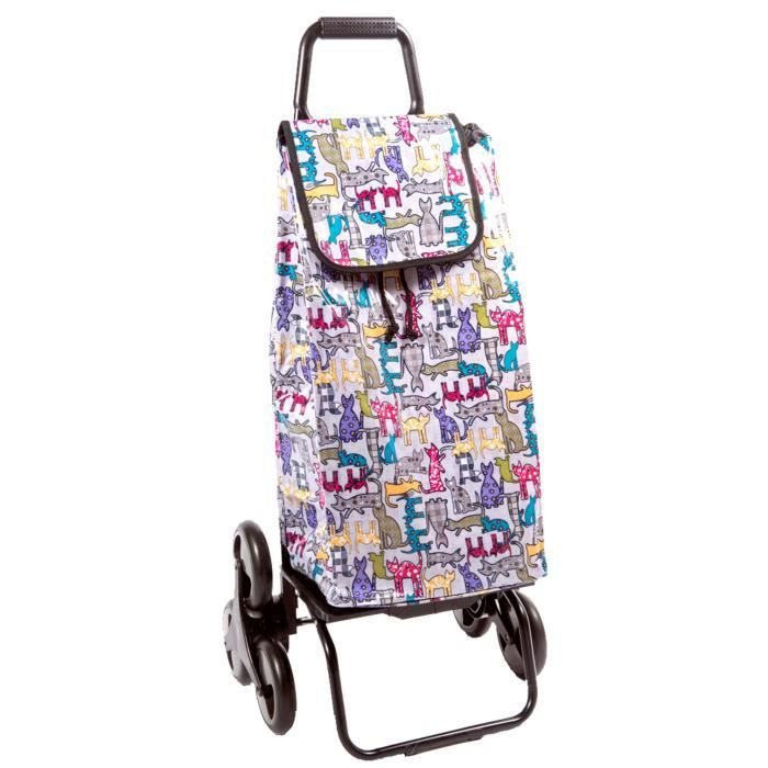 Carlux chat caddie chariot courses 6 roues achat vente sac shopping 2009880191301 - Caddie 6 roues ...