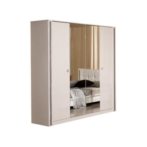 Ness armoire 4 portes achat vente armoire de chambre ness armoire 4 p - Armoire chambre 4 portes ...