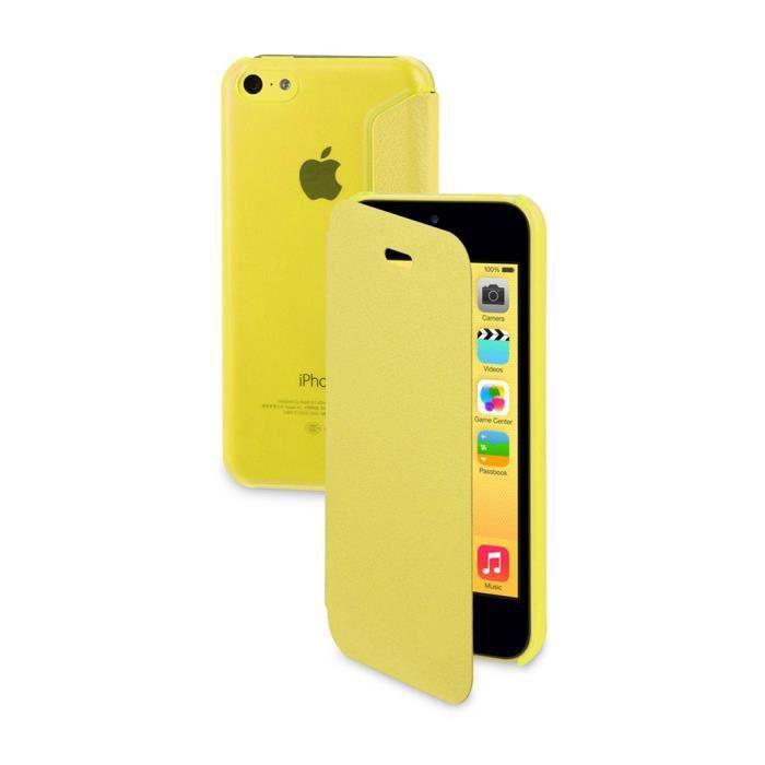 etui folio iphone 5c jaune achat vente etui iphone 5c. Black Bedroom Furniture Sets. Home Design Ideas