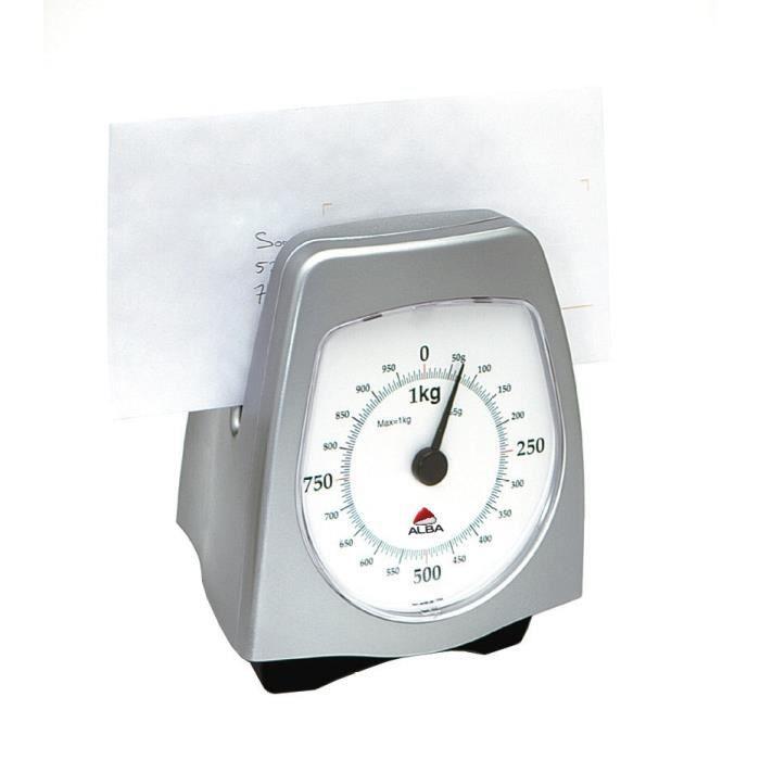 au quotidien papeterie pese lettre mecanique precis kg gris metal f  auc