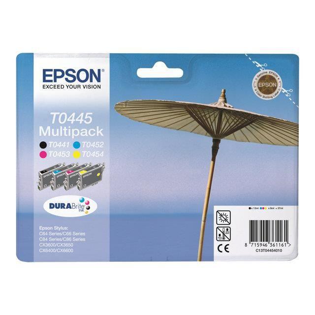 t0445 pack de 5 cartouches compatibles epson prix pas. Black Bedroom Furniture Sets. Home Design Ideas