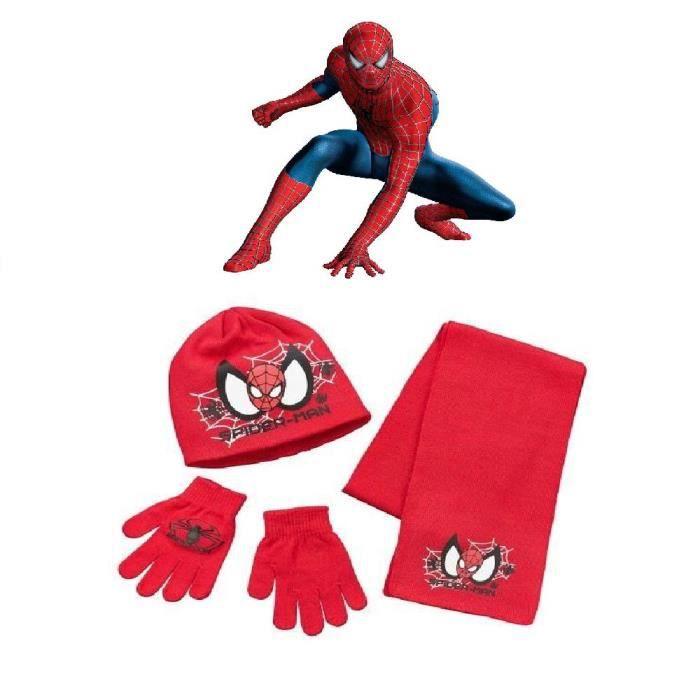 Bonnet charpe et gants enfants 3 4 5 ans spiderman h ro marvel ensemble gar ons rouge de l - Araignee rouge dangereux pour l homme ...
