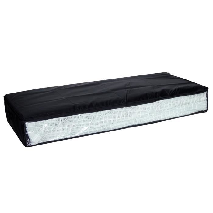 housse dessous de lit noir achat vente housse de. Black Bedroom Furniture Sets. Home Design Ideas